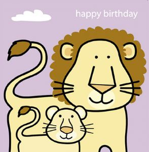 Animal Magic Birthday Card - Lion